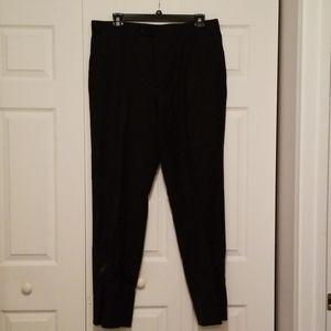 Men's Michael Kors Black Flat Front Pants